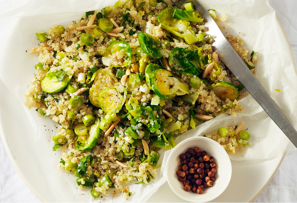 Quinoa with brussels sprouts & almonds Recipe | Foodiful