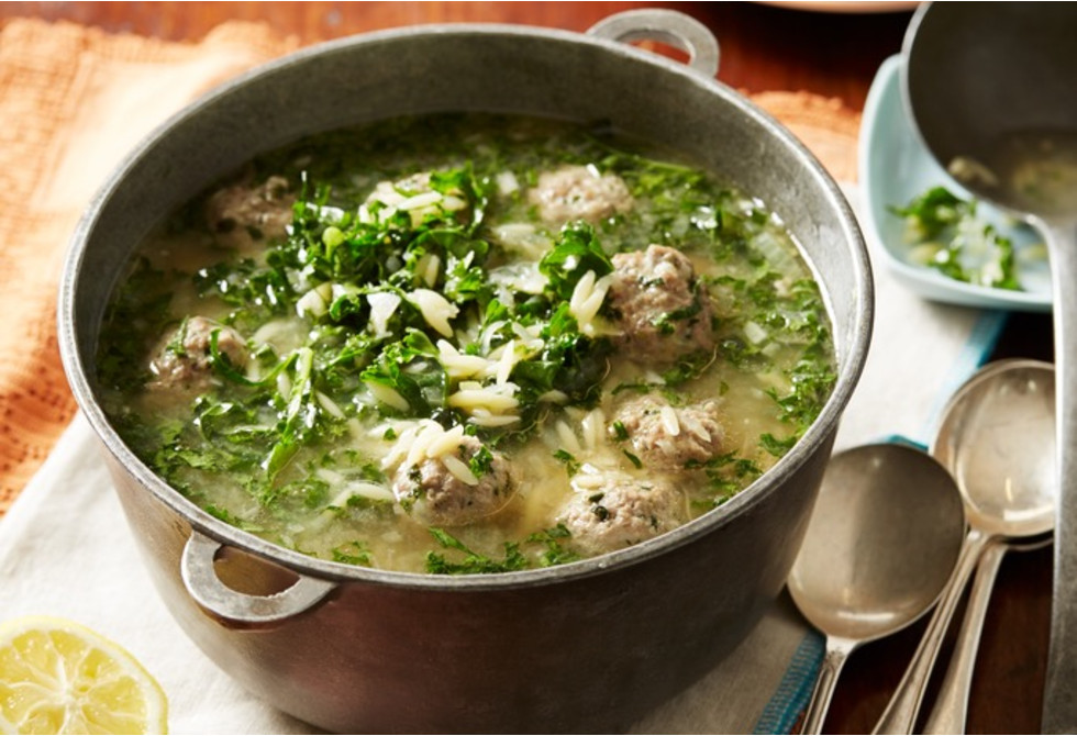 Greek lamb soup