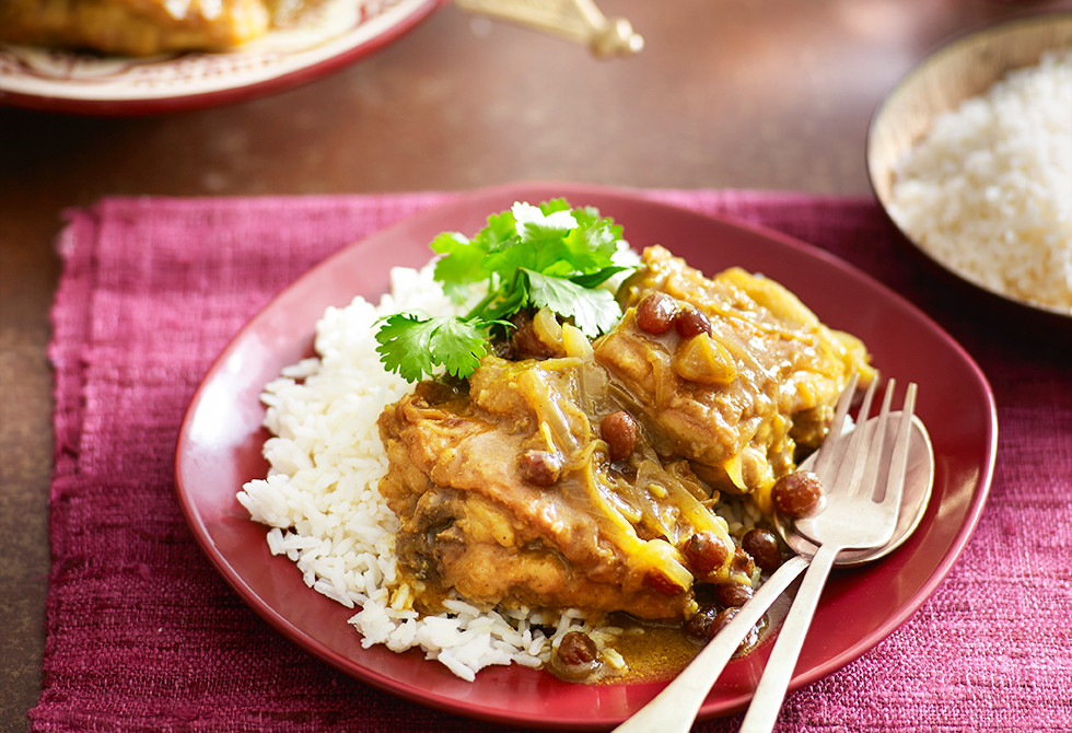 Sweet English chicken curry