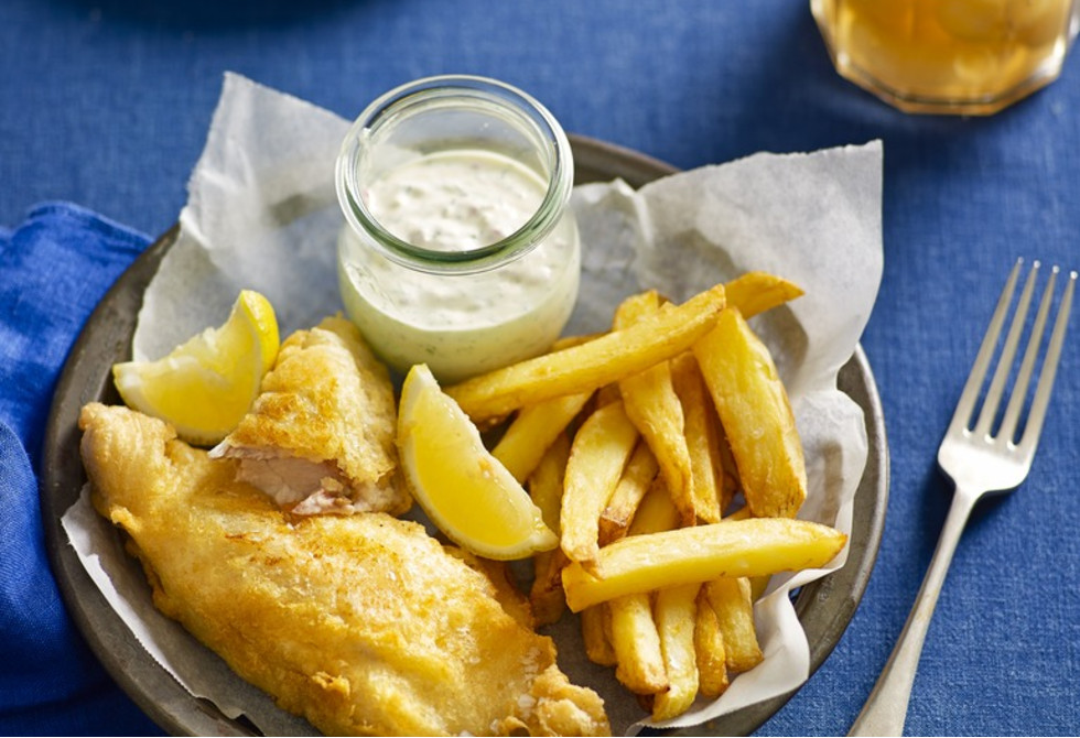 Fish and chips with a secret ingredient