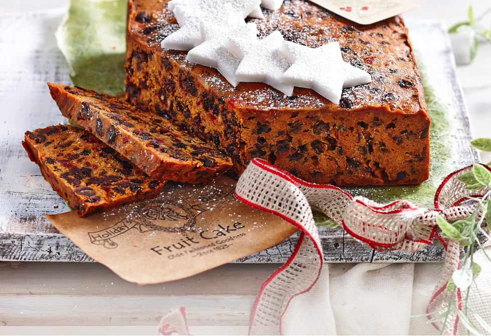 Traditional Christmas fruitcake
