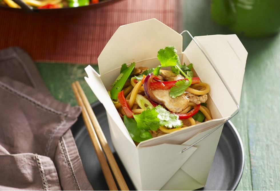Chicken And Hokkien Noodle Boxes Recipe Foodiful