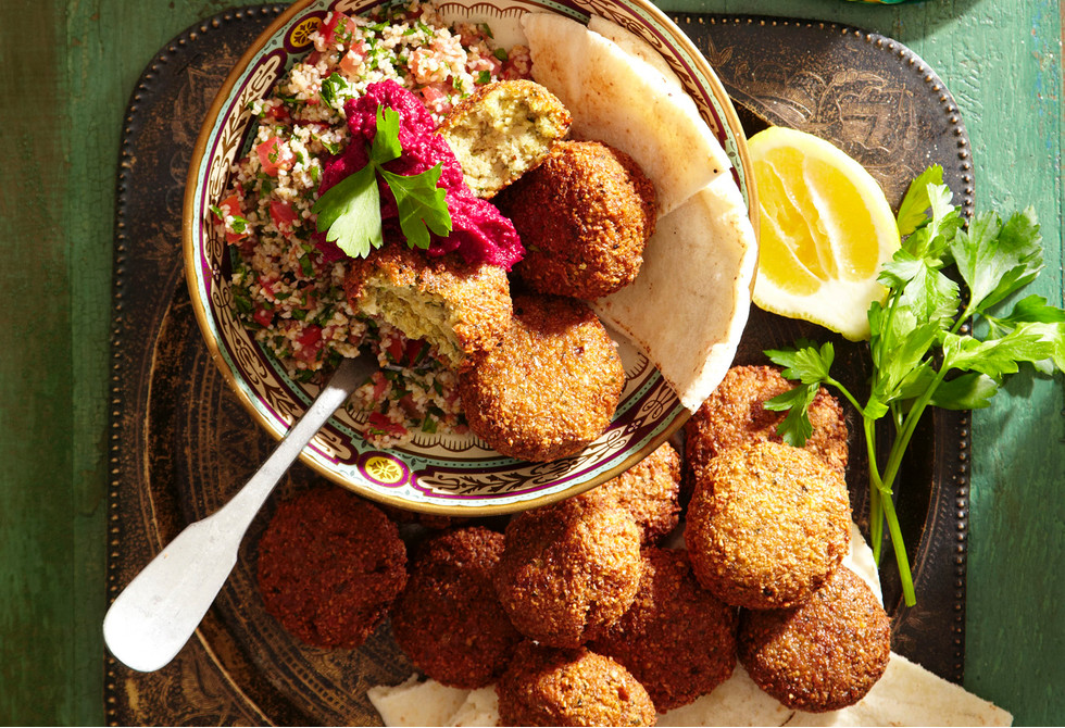 Falafels and tabouli