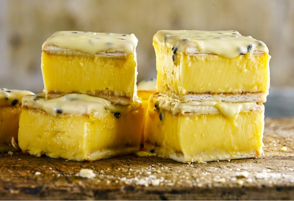 Lemon custard slice