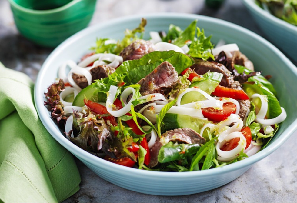Thai-style beef salad with coconut and lime dressing