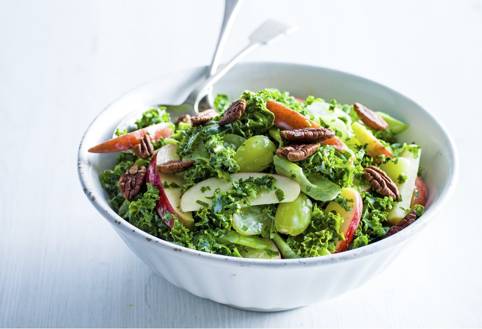 Kale Waldorf salad with buttermilk dressing