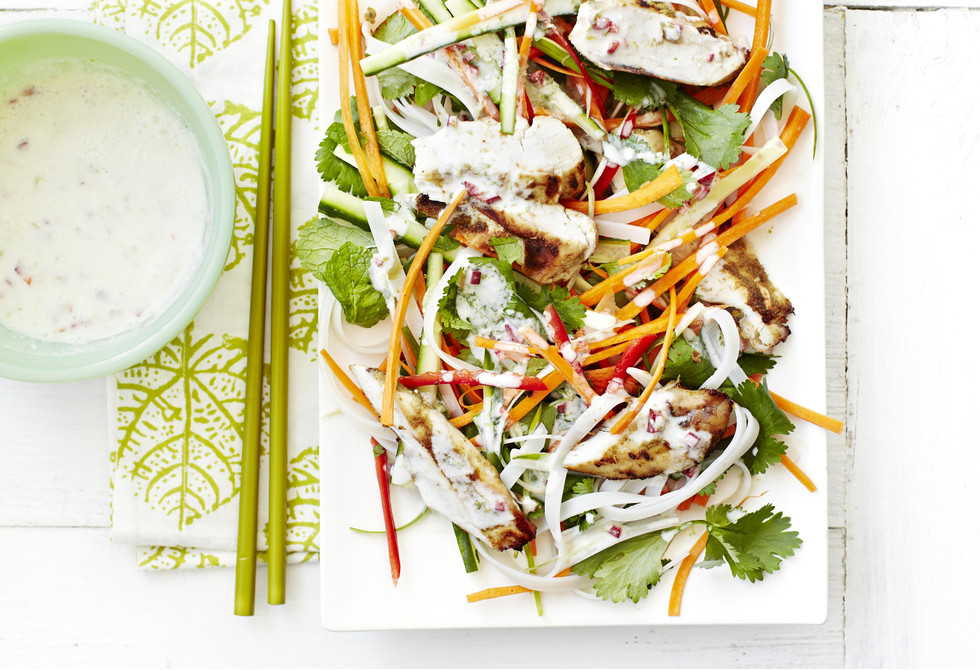 Thai chicken noodle salad with coconut-lime dressing