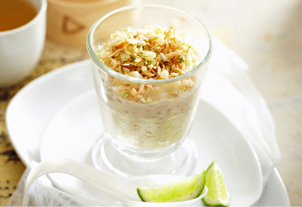 how to make thai coconut rice dessert