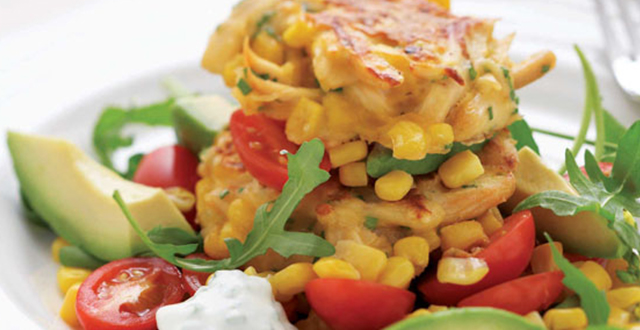 Chicken, Chives and Corn Fritters