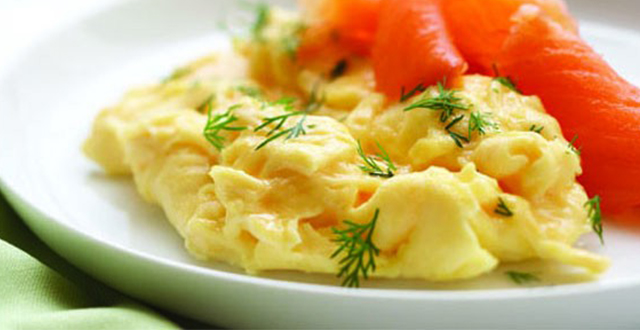 Creamy Eggs with Smoked Salmon and Dill