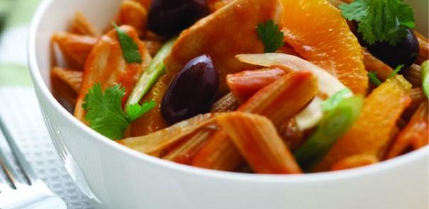 Chicken, Fennel, Orange and Olive Pasta