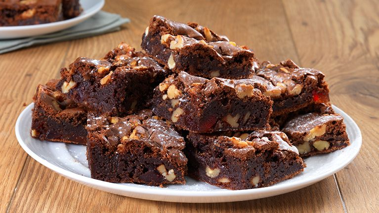 Squidgy Chocolate and Cherry Brownies