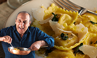 Gennaro's Spinach & Ricotta Filled Pasta with Sage Butter