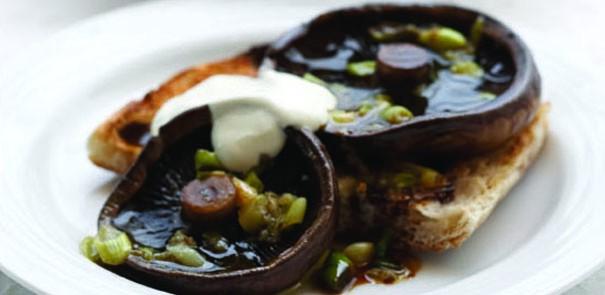 Portobello Mushrooms on Turkish Bread