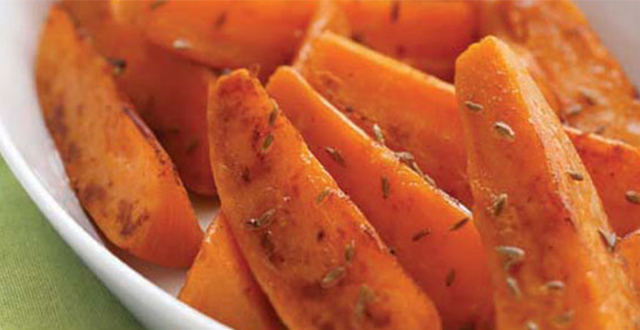 Cumin Sweet Potato Wedges with Sweet Chilli Sauce