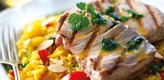 Tuna Steaks with Jewelled Rice