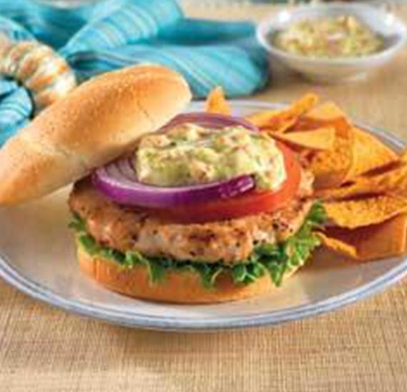 Kalkoen-Chickenburger met Hellmann's