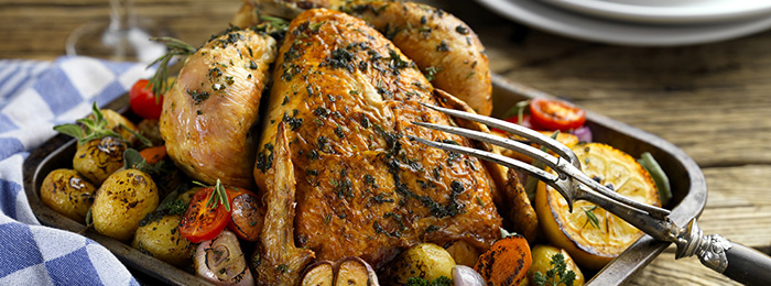 Roast Chicken with Bertolli Spread