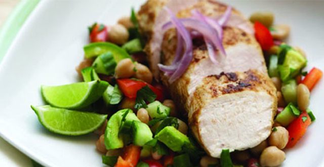 Chicken, Chickpea and Bean Salad