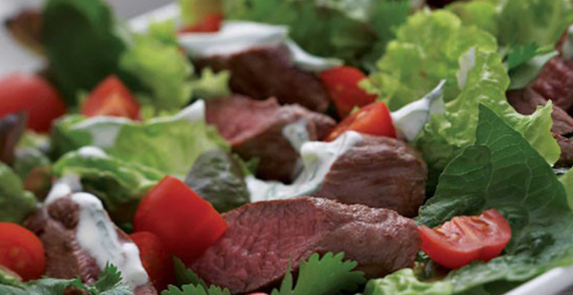 Tzatziki Lamb Salad with Crisp Bread