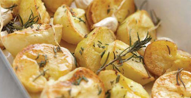 Smashed Rosemary and Garlic Potatoes