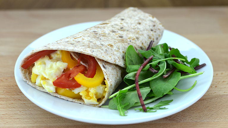 Egg, Mayo and Pepper Wrap