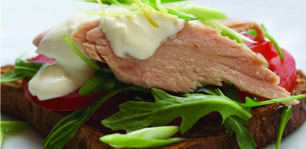 Tuna and Lemon Mayonnaise Stacks