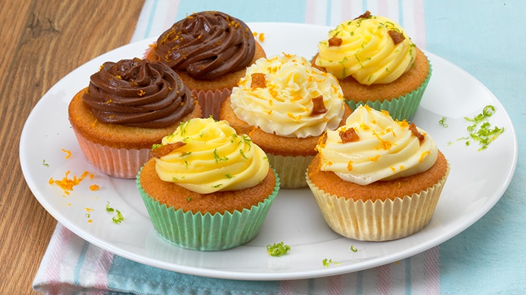 Lemon Cupcakes with Passion Fruit Cream