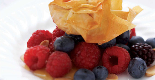 Honey Almond Filo with Berries