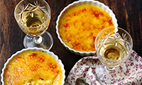 Orange Crema Catalana with Saffron
