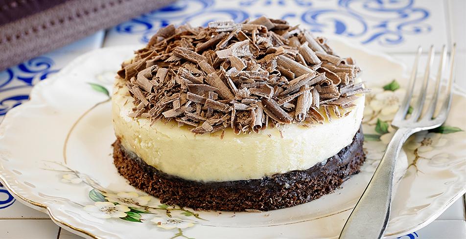 Torta de chocolate tricolor