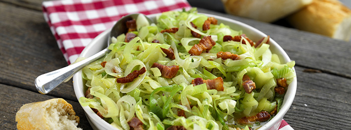 Leeks with Bacon