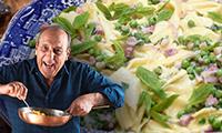 Gennaro's Easy Pancetta Pasta with Peas Recipe