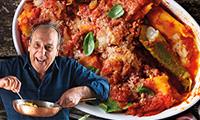 Gennaro's Baked Bertollini Pasta Filled with Ricotta, Mozzarella & Basil with Tomato Sauce