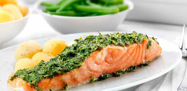 Oven Baked Salmon With a Dill Glaze Recipe