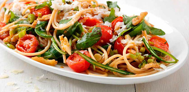 Spaghetti with Rocket, Walnuts and Cherry Tomatoes Recipe