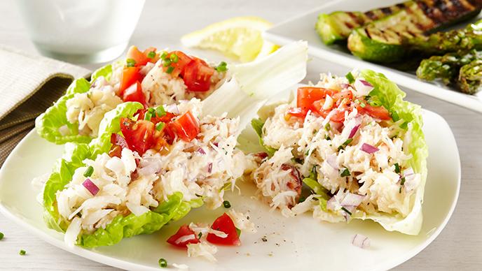 Salada de caranguejo