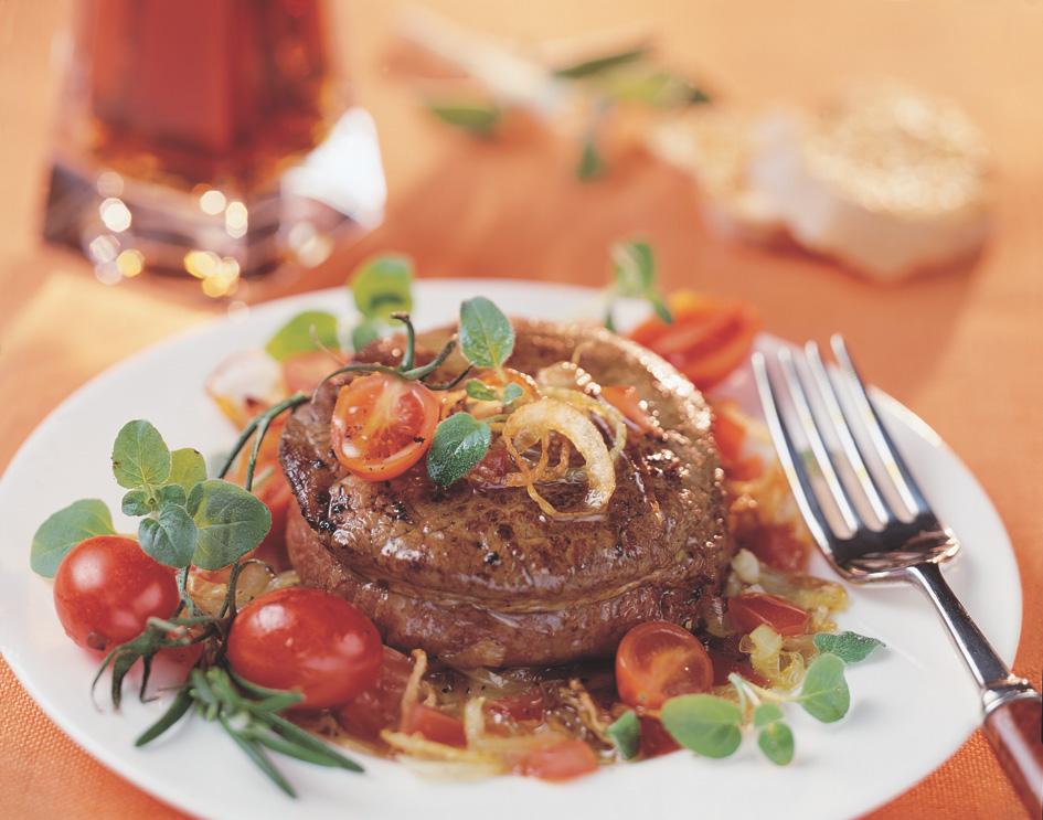 Biefstuk met witte wijn en uien