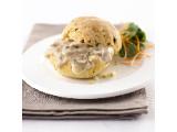 Broodjes gevuld met champignon ragout